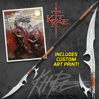 Kit Rae Ellexdrow War Spear With Art Print KR0050