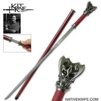 Vorthelok Folded Damascus Sword Cane KR0072