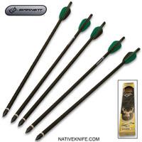 "Barnett 18"" Crossbow Arrows - Five-Pack, Aluminum Shafts"