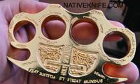 Constantine Holy Spiritus Constantine Brass Knuckle Paper Weight Gold