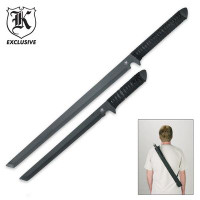 Viper Twin Full Tang Tactical Ninja Sword with Shoulder Scabbard
