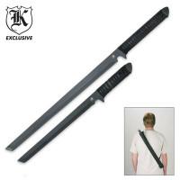 Viper Twin Full Tang Tactical Ninja Sword with Shoulder Scabbard