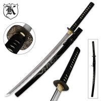 Smokey White Dragon Katana Sword