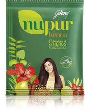 Godrej Nupur Henna: With the combination of 9 different herbs, Aura Cosmetics presents Godrej Nupur Mehndi which is a complete treatment for hair. Ingredients used in it are 100) original and Herbal ingredients with no chemical at all. It colors hair, fights with several hair problems and makes hair healthy and beautiful.  Godrej Nupur Mehndi is formulated according to the need of the peoples. It is made for those who want to have something more beneficial than just an ordinary hair color. It has Amla, Shikakai, Aloe Vera and many other herbs which ensures healthy conditioning for hairs.