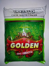 1 Bag of Golden Khaini Tobacco - 25 Pouches Per Bag - 16gm Each  FAST & FREE SHIPPING! Export Quality! EXP September 2019 Ingredients: Tobacco