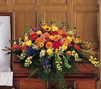 Bright Colorful Casket Piece