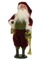 Brass Lantern Santa