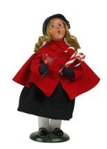 Salvation Army Girl with Bell & Candy Cane