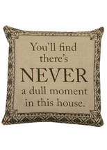 Never a Dull Moment Pillow