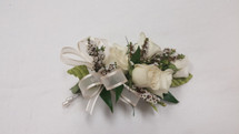 White Rose Pin On Corsage