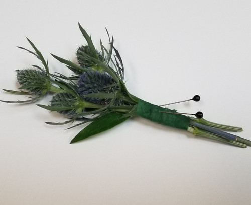 Thistle pin on Boutonniere