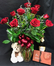 Red Rose Premium Valentine's Day Bundle