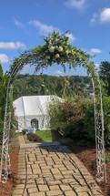 This simple yet designed piece for your archway will Wow your guests with the additional details of the mixed greenery and roses. Starting price is $100 and may go up depending on the fullness and flowers you choose for your own custom wedding
