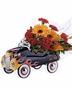 This fun Hotrod keepsake container with make anyone's day!