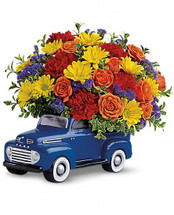 Perfect Way to show your appreciate with this great Keepsake Ford Pick up Truck flower arrangement