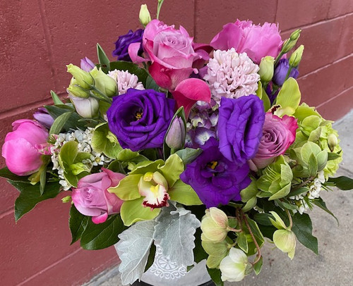 When only the best will do for Mom.  No fillers in this Ultimate bqt  Roses, hydrangea, peonies, mini callas, lisianthus, cymbidium, orchids, & helleborus   It doesn't get any nicer!
