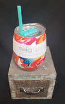 These Swig 14oz stemless wine cups with a straw and cover are awesome! They keep your beverages Cold up to 9 hours and HOT up to 3 hours! They come in cool colors and are dishwasher safe