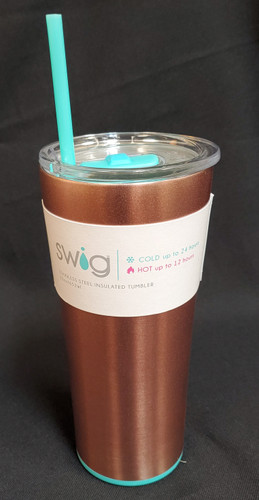 These Swig 22oz tumbler cups with a straw and cover are awesome! They keep your beverages Cold up to 24 hours and HOT up to 12 hours! They come in cool colors and are dishwasher safe