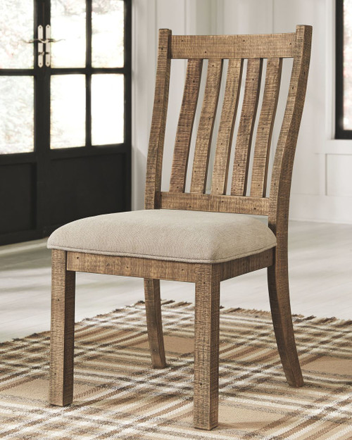 Ashley D754 05: Ashley Grindleburg Light Brown Dining UPH Side Chair On