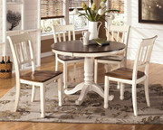 Ashley Whitesburg Brown/Cottage White Round Table