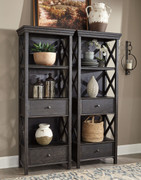 Ashley Tyler Creek Black/Gray Display Cabinets (2)