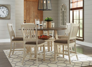 Ashley Bolanburg Two-tone 7 Pc. Round Drop Leaf Dining Set