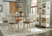Ashley Bolanburg Two-tone 9 Pc. Round Drop Leaf Dining Set