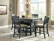 Ashley Tyler Creek Black/Gray 5 Pc. Rectangular Counter Height Dining Set