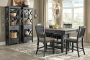Ashley Tyler Creek Black/Gray 7 Pc. Rectangular Counter Height Dining Set
