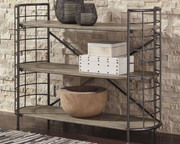 Ashley Flintley Brown/Gunmetal Bookcase