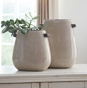Ashley Diah Tan Vase Set (2/CN)