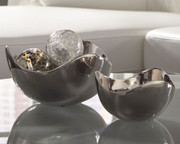 Ashley Donato Chrome Finish Bowl Set (2/CN)