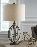 Ashley Manasa Bronze Finish Metal Table Lamp (1/CN)