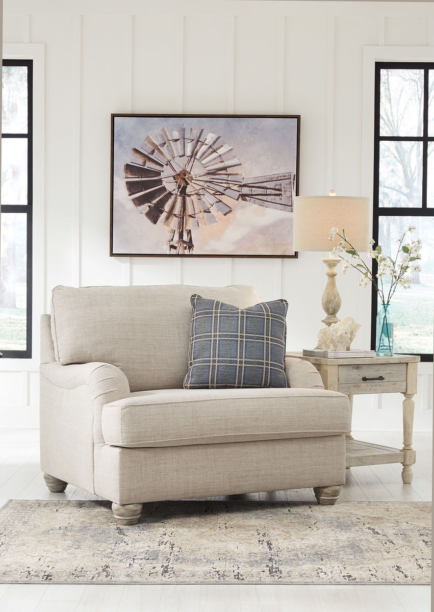 Ashley Traemore Linen Chair And A Half