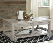 Ashley Fregine White Wash Lift Top Cocktail Table