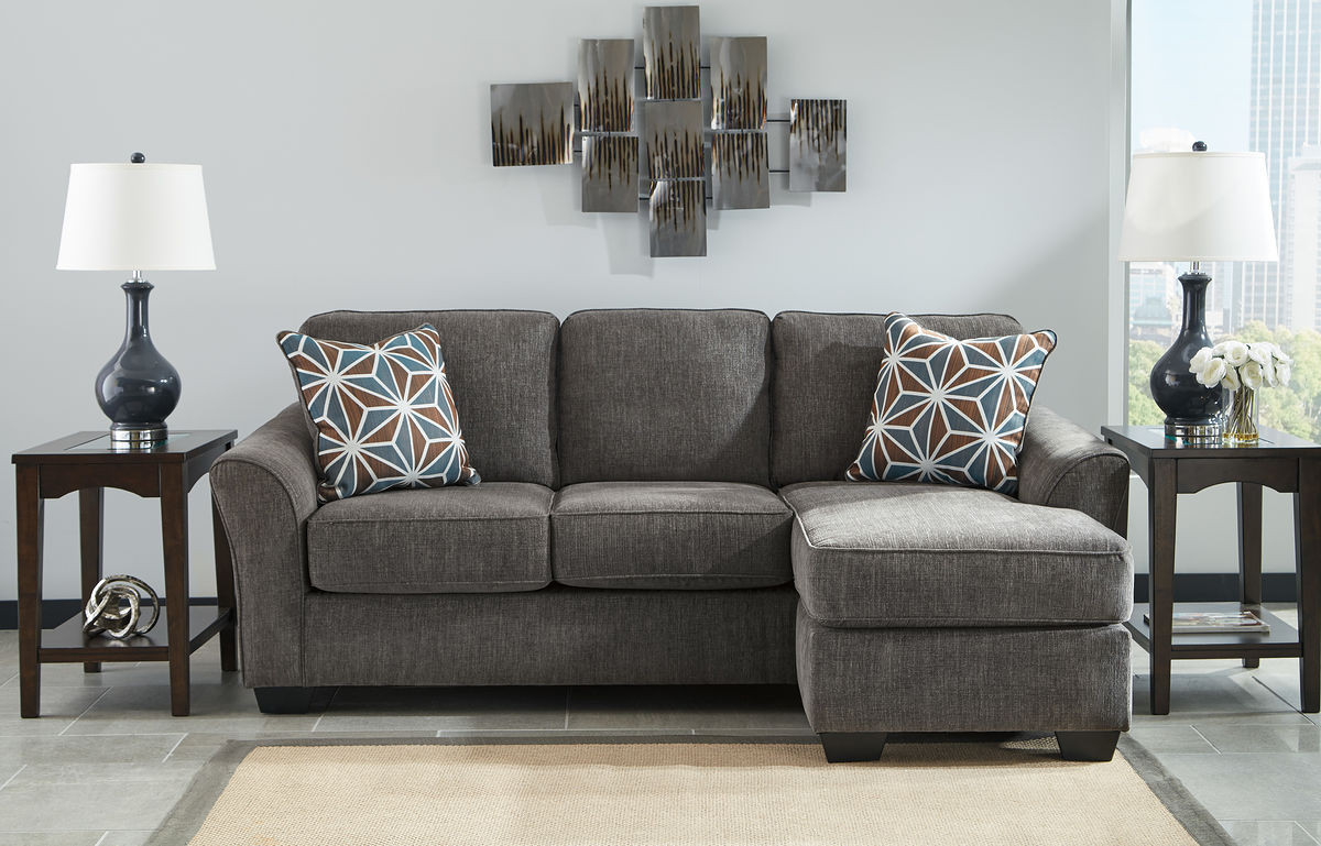 Amazing Ashley Brise Slate Sofa Couch Chaise Dailytribune Chair Design For Home Dailytribuneorg