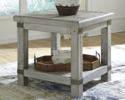 Carynhurst White Wash Gray Rectangular End Table