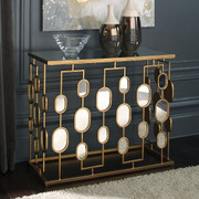 Ashley Majaci Gold Finish Console Table