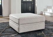Dellara Chalk Ottoman With Storage