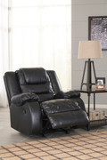 Ashley Vacherie Black Rocker Recliner