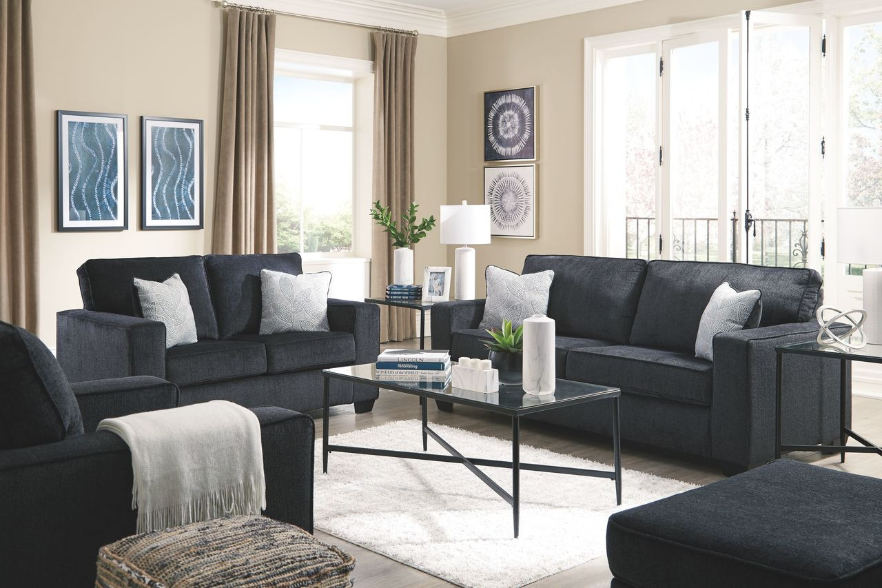 Brilliant Ashley Altari Slate Sofa Couch Loveseat Chair Ottoman Augeron Table Set Gmtry Best Dining Table And Chair Ideas Images Gmtryco