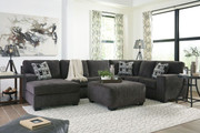 Ashley Ballinasloe Smoke LAF Corner Chaise, Armless Loveseat, RAF Sofa/Couch Sectional & Ottoman