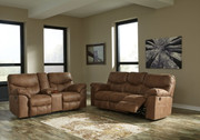 Ashley Boxberg Bark REC PWR Sofa/Couch & DBL REC PWR Loveseat with Console