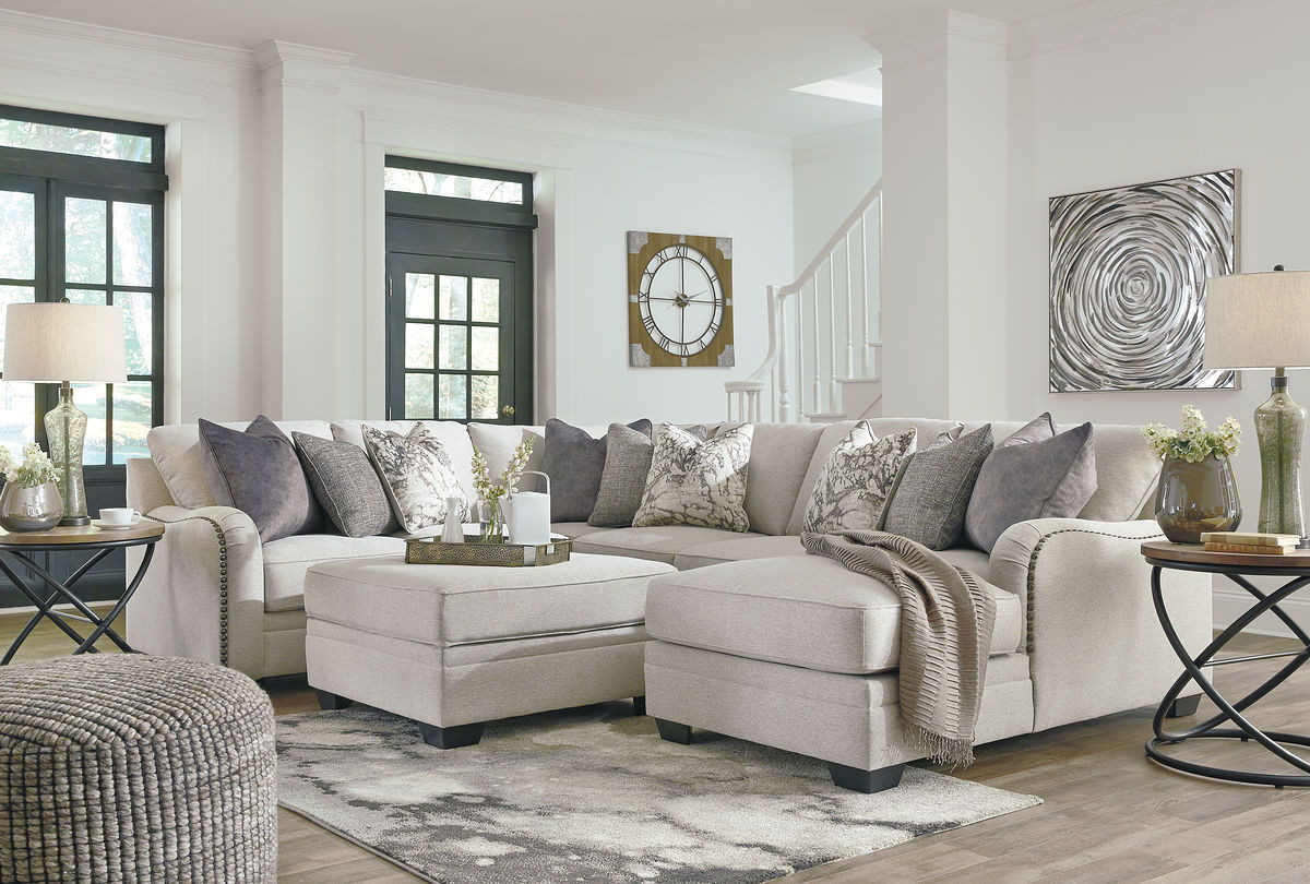 Stupendous Ashley Dellara Chalk Laf Loveseat Wedge Armless Loveseat Raf Corner Chaise Sectional Ottoman With Storage Gmtry Best Dining Table And Chair Ideas Images Gmtryco