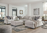 Ashley Dellara Chalk LAF Loveseat, Wedge, Armless Loveseat, Armless Chair, RAF Corner Chaise Sectional & Ottoman with Storage