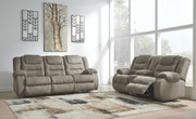 Ashley Segburg Cobblestone REC Sofa/Couch & DBL REC Loveseat with Console
