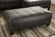 Ashley Nokomis Charcoal Oversized Accent Ottoman