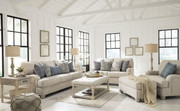 Ashley Traemore Linen Sofa/Couch, Loveseat, Chair and a Half & Ottoman