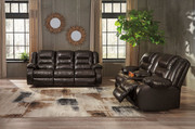Ashley Vacherie Chocolate Reclining Sofa/Couch & Double Reclining Loveseat