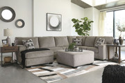 Ashley Ballinasloe Platinum LAF Corner Chaise, Armless Loveseat, RAF Sofa/Couch Sectional & Accent Ottoman